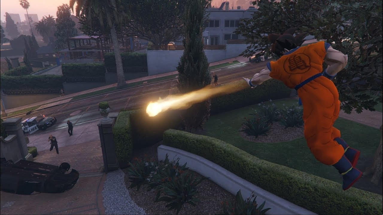 You Can Now Play as Goku in GTA V