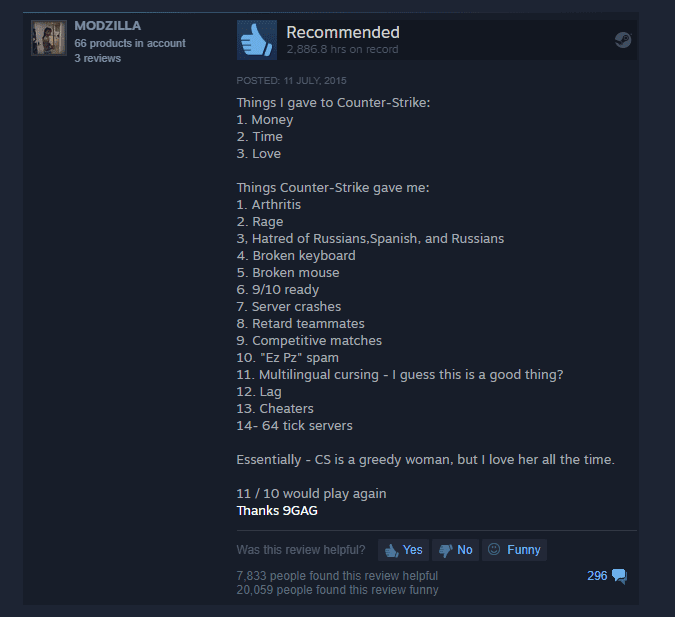 The Funniest Steam Reviews From P*ssed Off Players