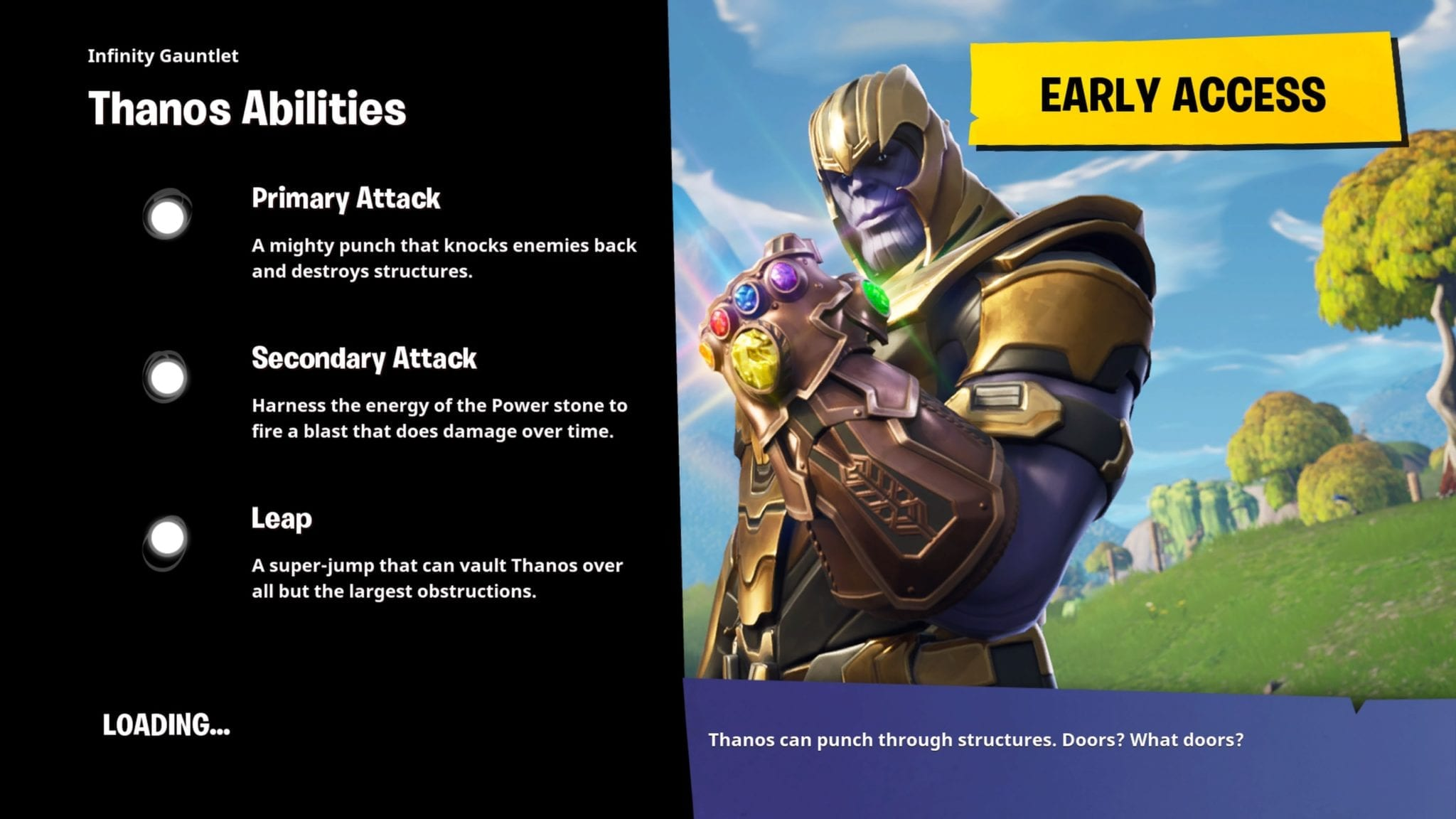 the rest of the game will feel like a regular game where 100 players descend onto the all to well known map and battle it out this time there will be one - fortnite thanos game mode