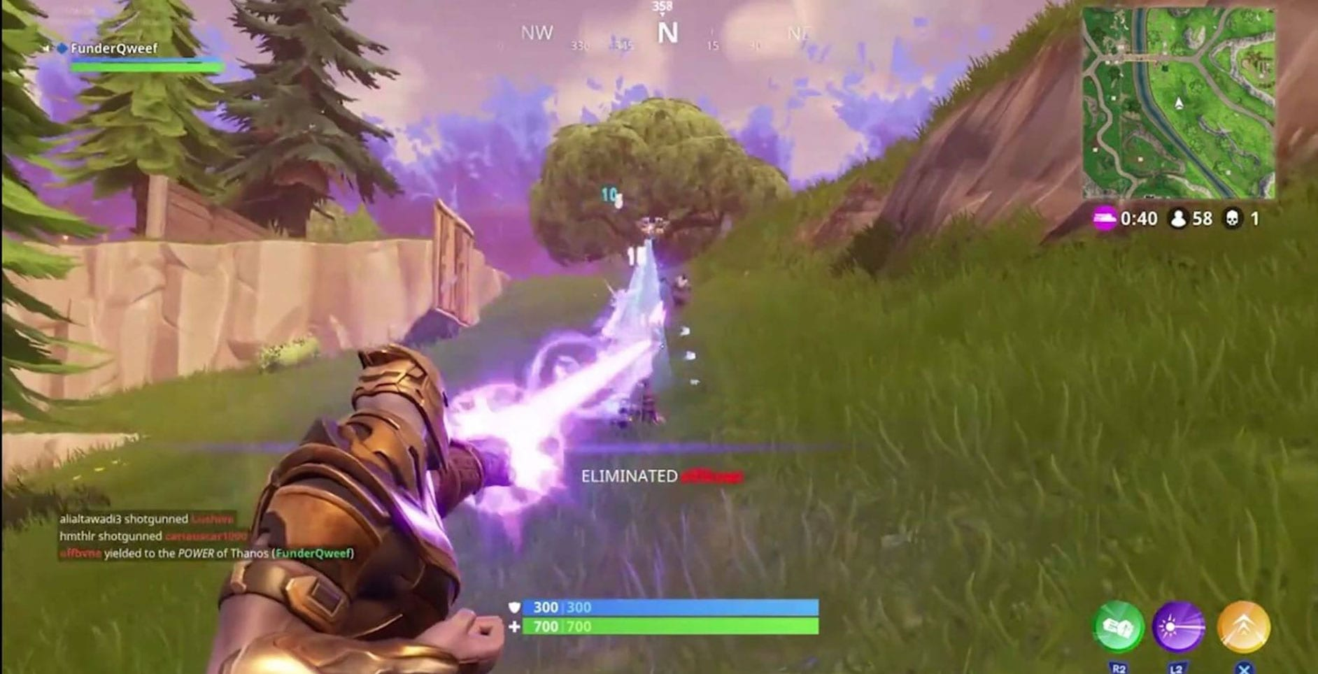 having a member like iron man in the game mode would also help the problem that is caused by sky bases in the new game mode if you weren t aware players - thanos abilities fortnite