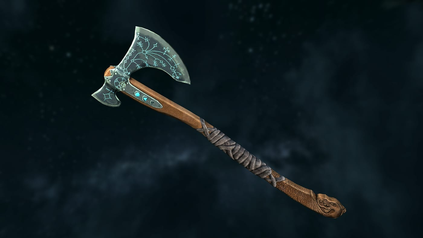 Skyrim Mod adds God of War Leviathan Axe and it is Beautiful