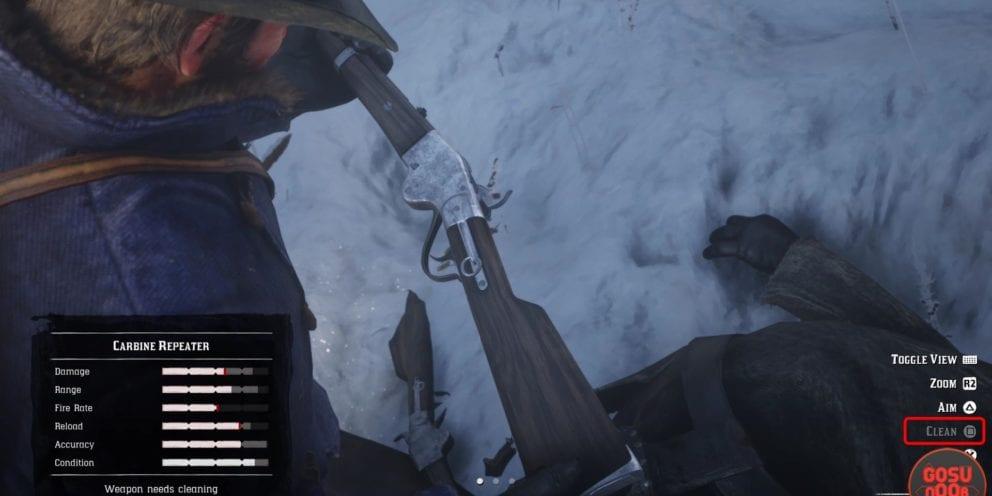 Clean guns Red Dead Redemption 2
