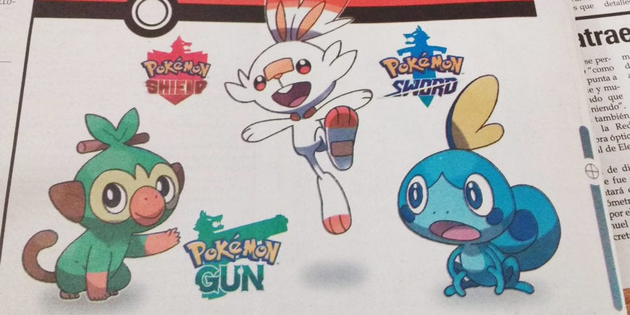 Newspaper Reports That Pokemon Sword Shield And Gun Are The Latest