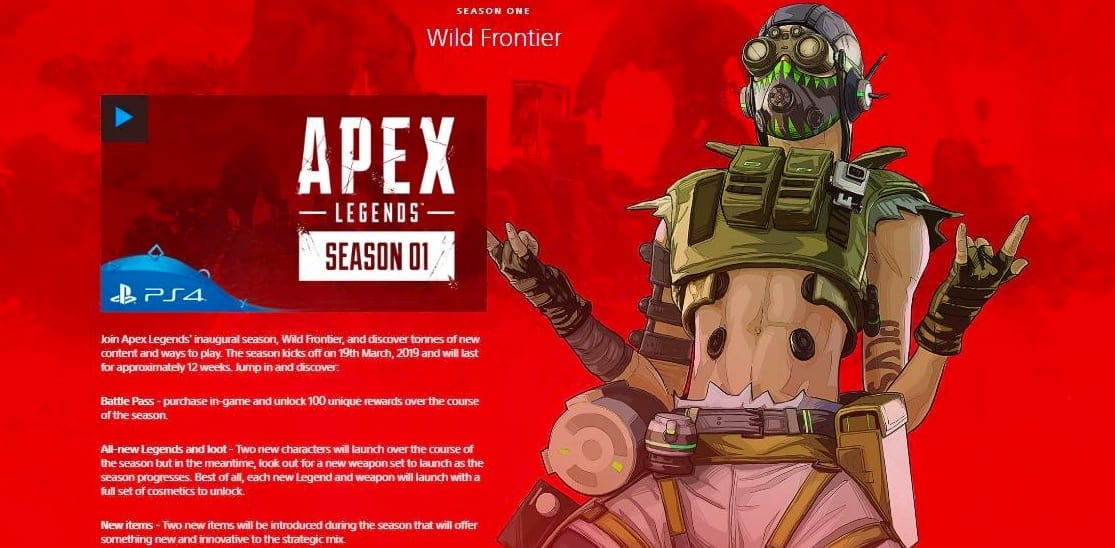 PlayStation Just 'Leaked' Content Plans For Apex Legends Season One