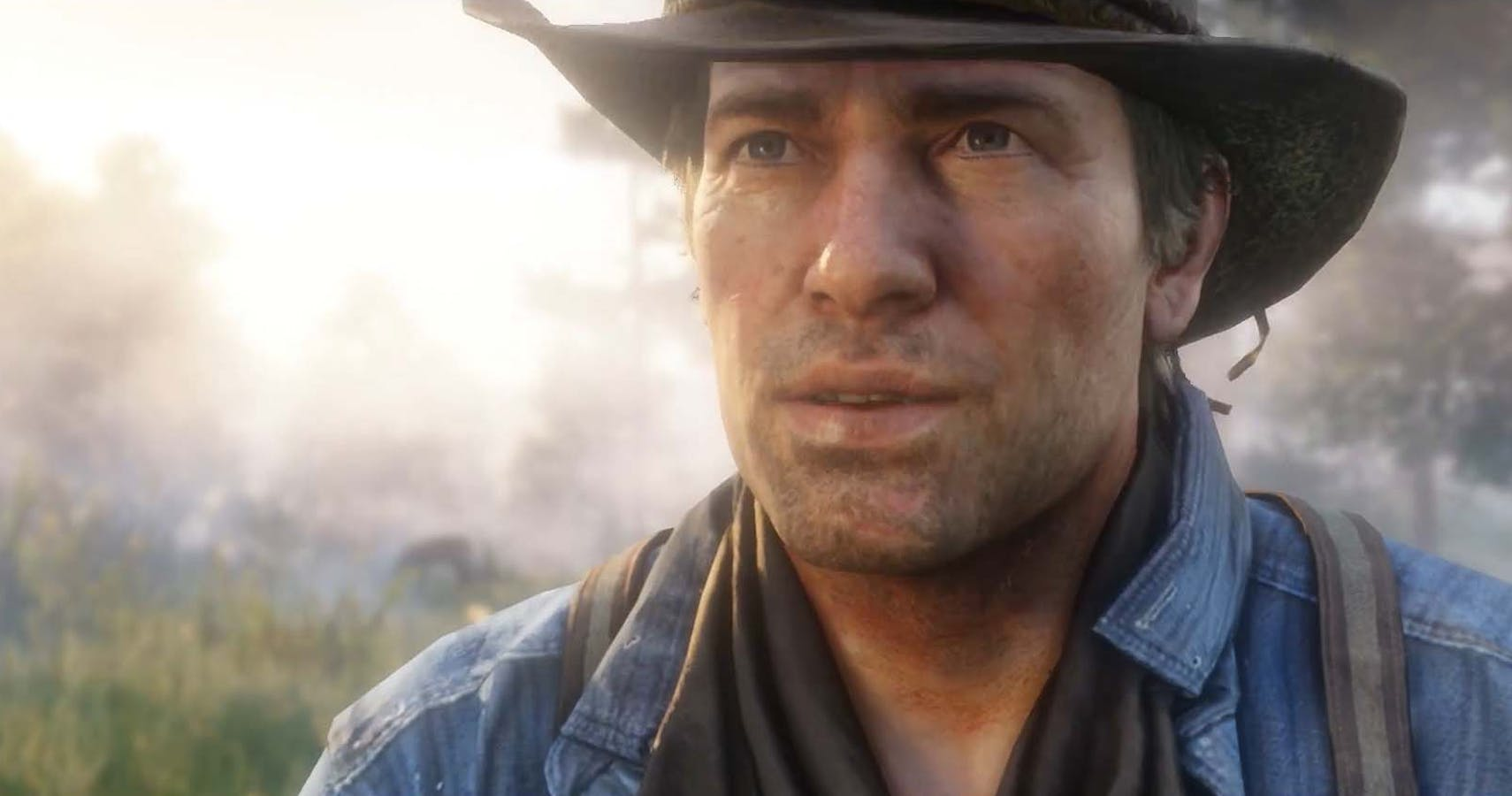 Arthur Morgan looking happy