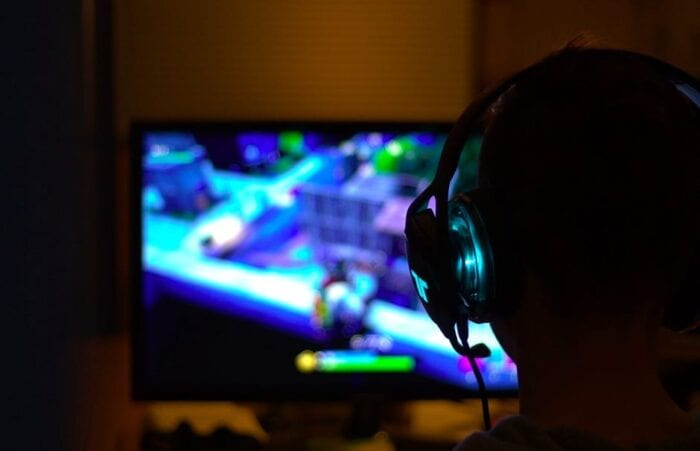 gamer with a headset