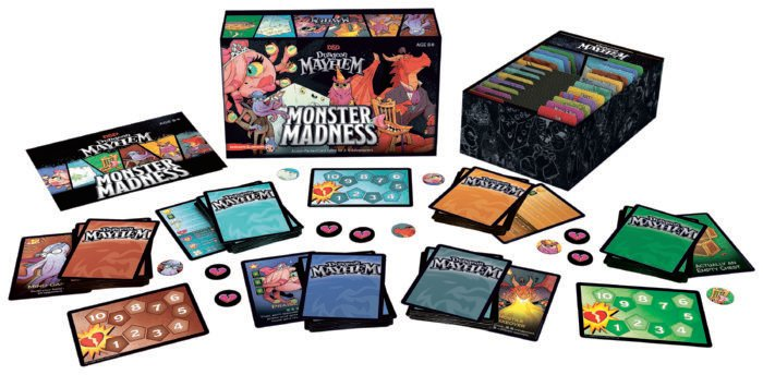 Dungeon Mayhem Box and components