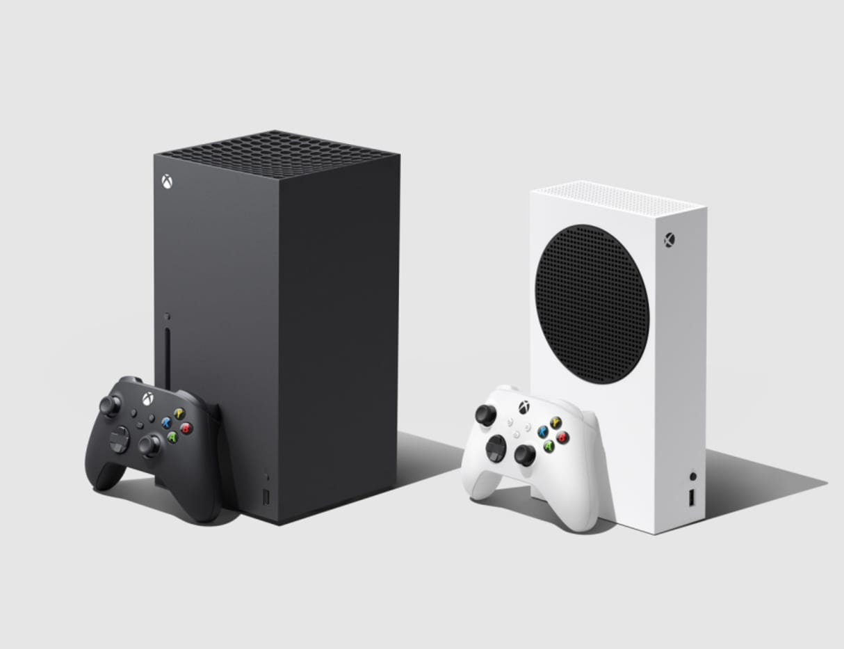 Xbox consoles side by side