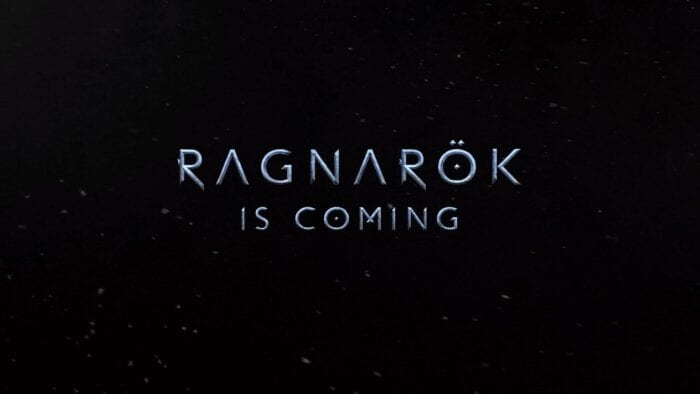 Text reading Ragnarok is Coming