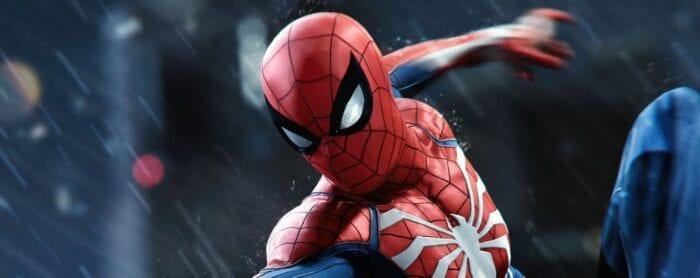 Spider-Man looking down