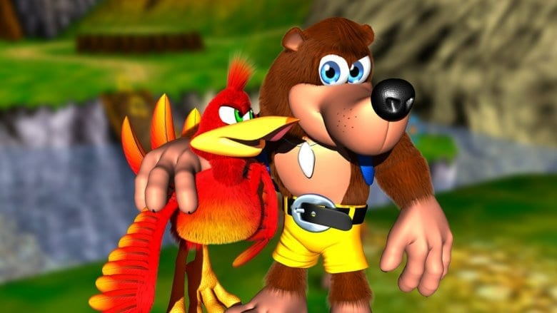 Banjo with his arm around Kazooie