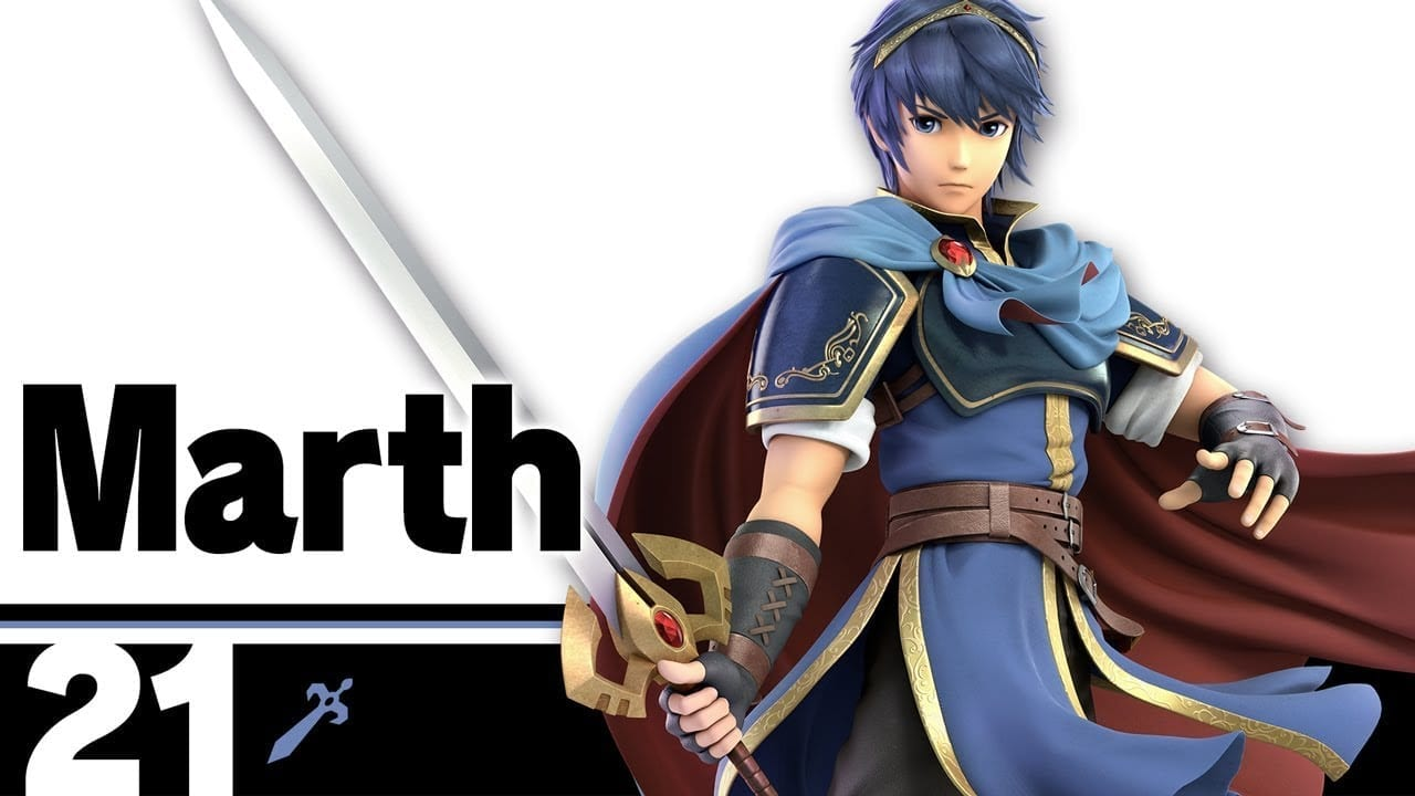 Marth Smash Bros. fighter card