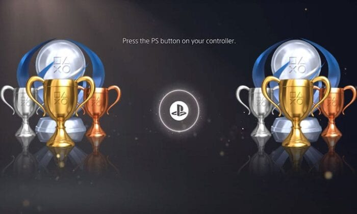 Image of trophies on PS5