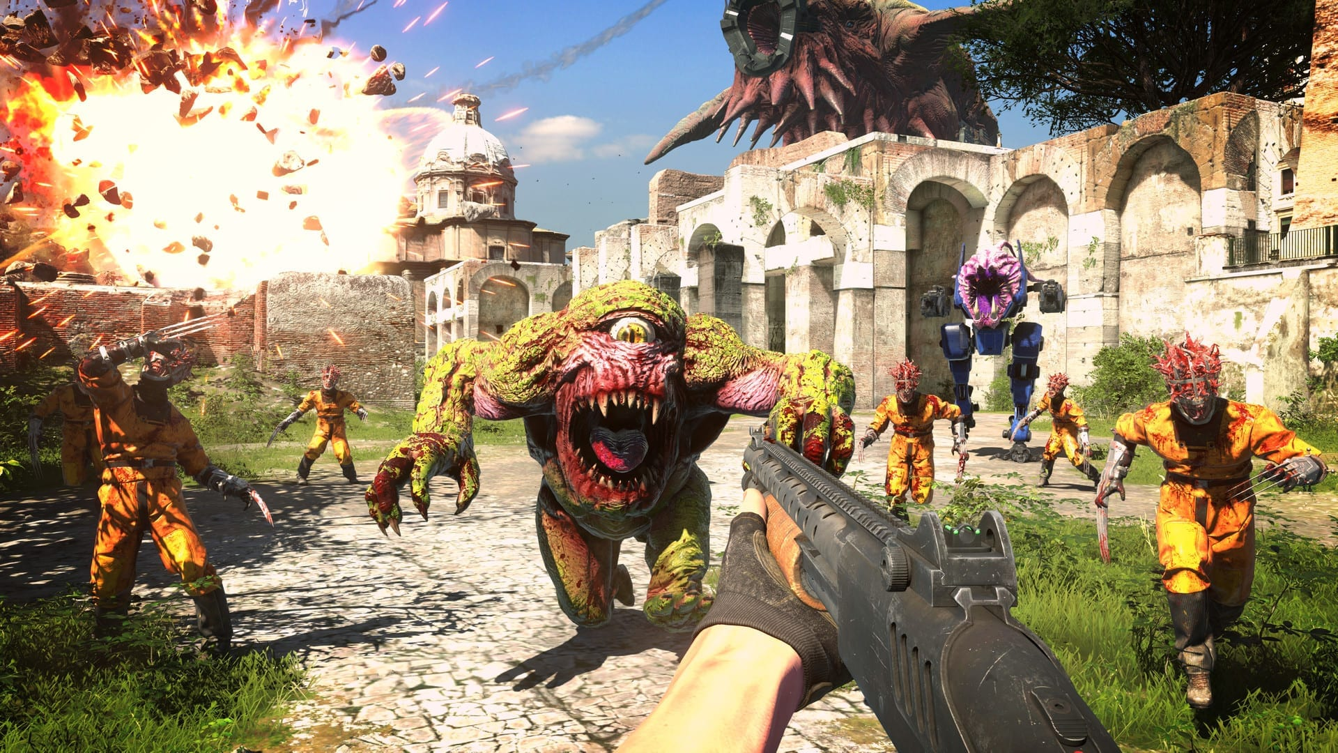 Fighting in Serious Sam 4