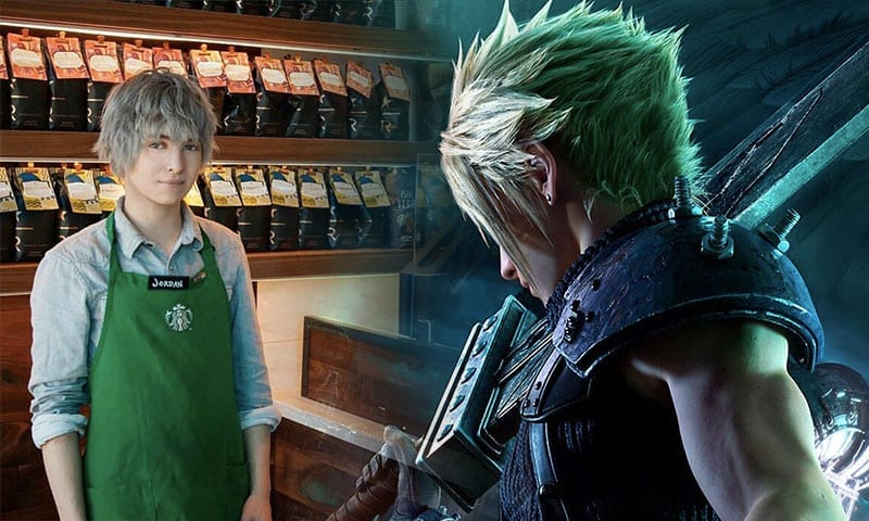 starbucks barista who looks like a final fantasy character