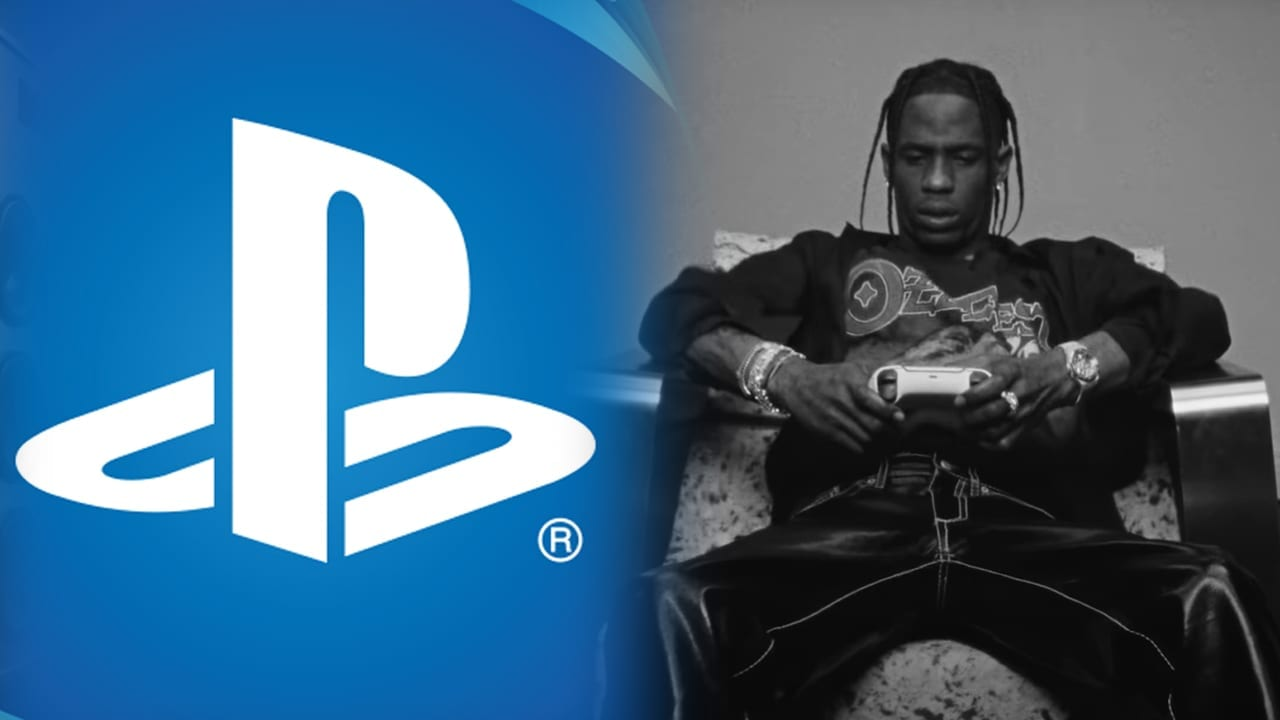 Travis Scott and the PlayStation logo