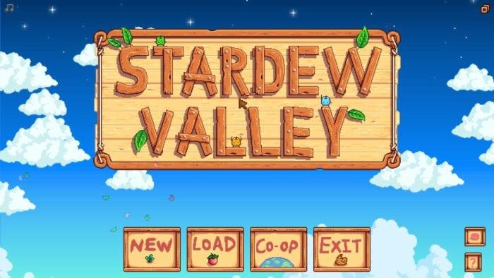 Stardew Valley title screen