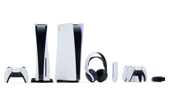 PlayStation 5 and all of its accessories including the remote, headset, charging dock and camera