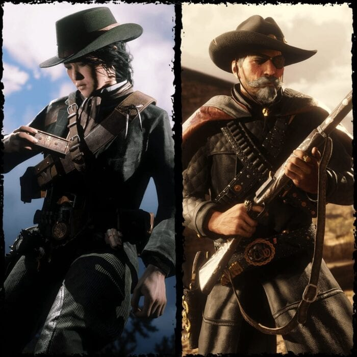Two characters from Red Dead Online