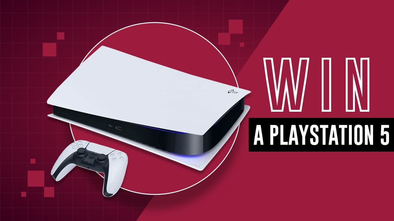 A competition image to win a PlayStation 5