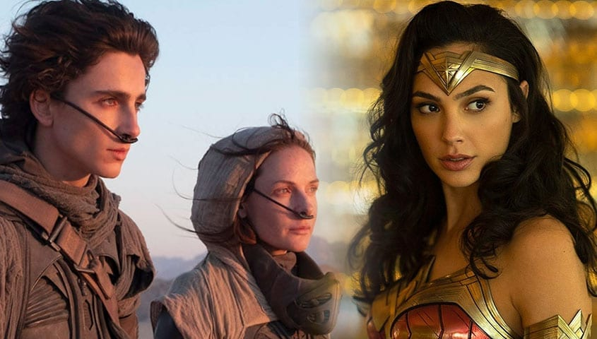 Image from dune next to image of wonder woman
