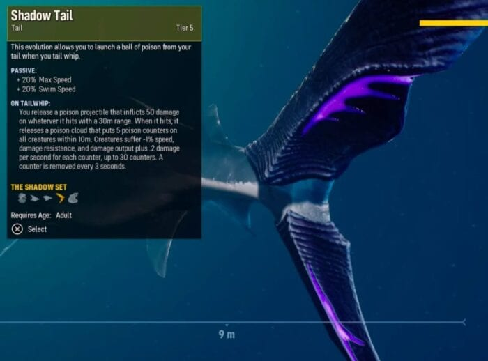 shadow tail description in maneater
