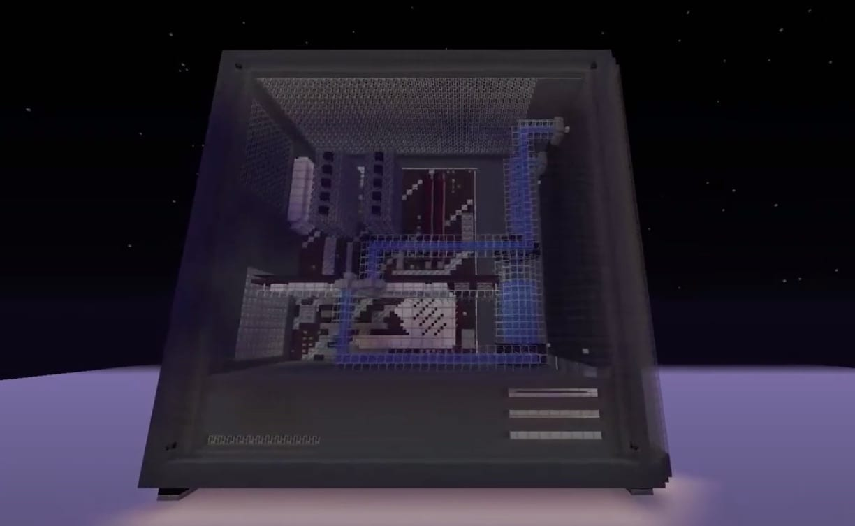 Minecraft Builder Spent 45 Hours Building Nvidia RTX 3070 In-Game