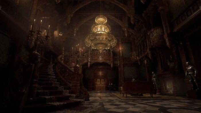 resident evil village castle interior