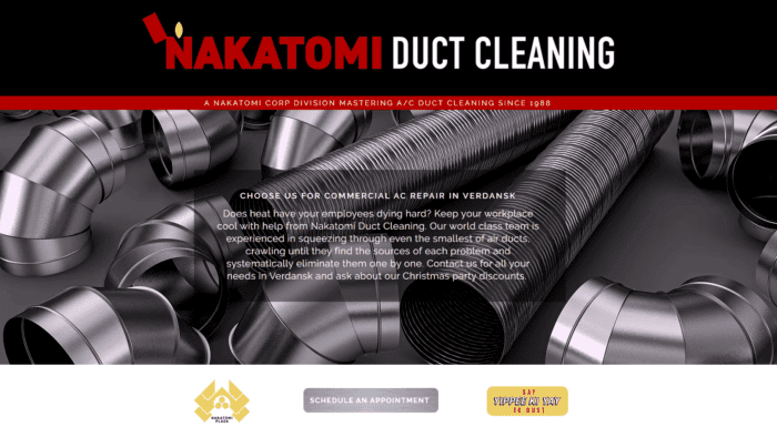 Nakatomi Duct Cleaning Website