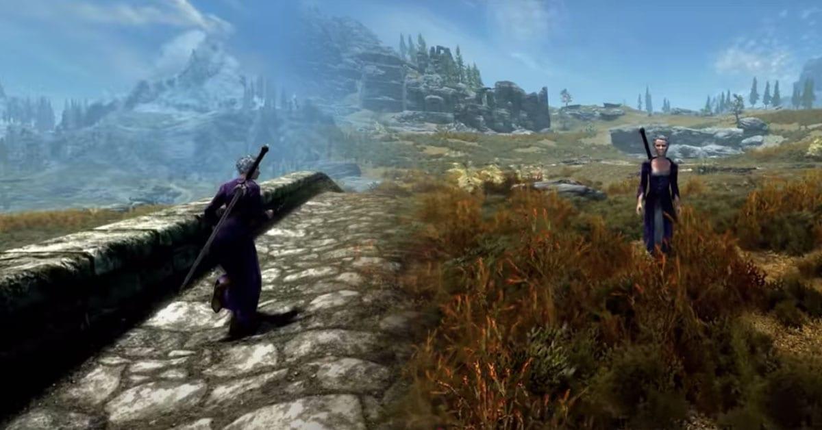 Skyrim Grandma Is Now A Follower In The Elder Scrolls V: Skyrim